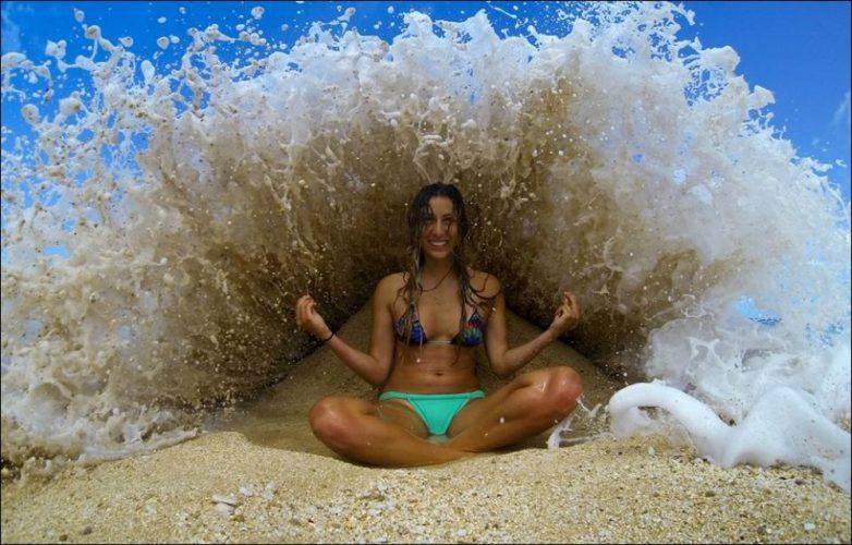 Как сделать креативное фото на море