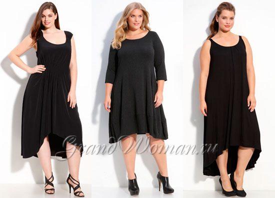 Короткие черные платья на полных