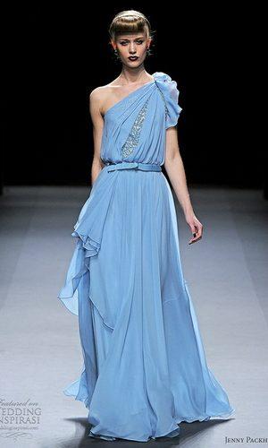 Украшения с голубым платьем