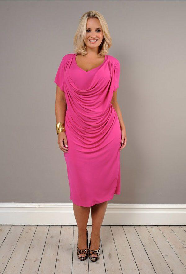 Розовые платья для полных