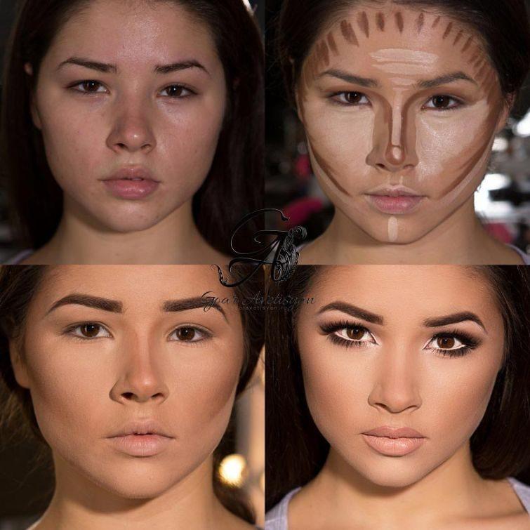 Как сделать лицо худым пластика