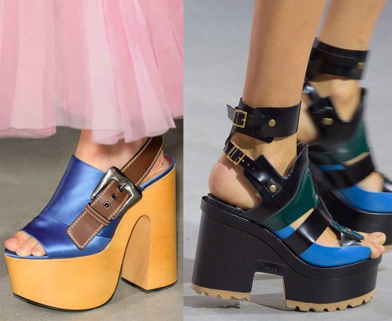 Стильная обувь на платформе