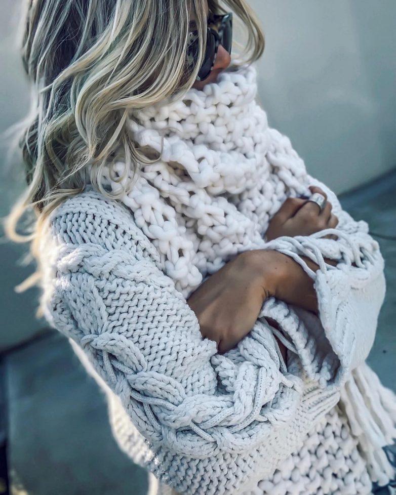 Стильные вязанные вещи для холодного сезона