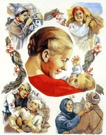 8 Марта в поздравительных плакатах