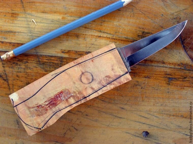 Как сделать на дому ножи 409