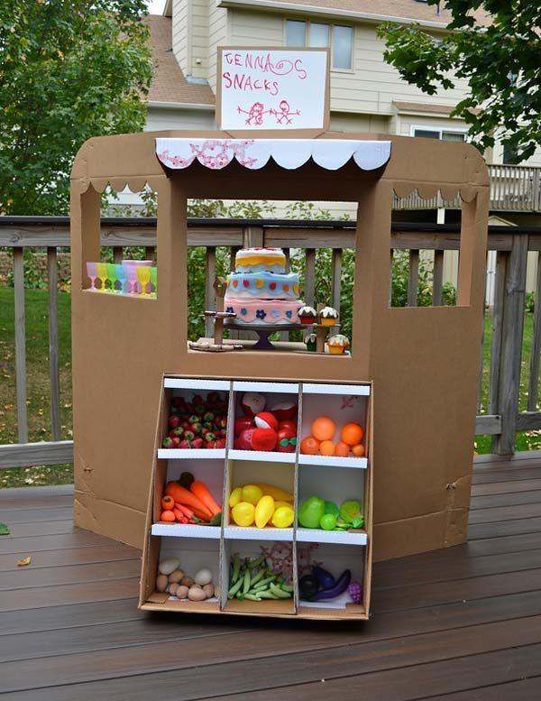 Мебель для детей из картонных коробок своими руками