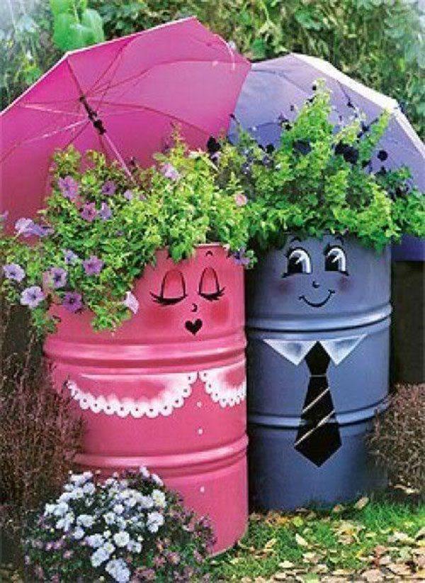 Идеи для сада и огорода своими руками из бутылок фото