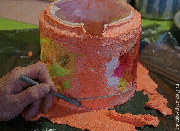 Делаем необычный чайник-светильник из папье-маше