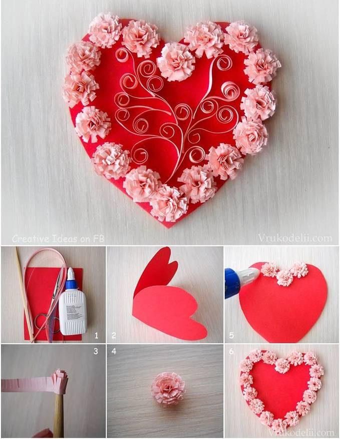 Делаем валентинки из бумаги своими руками