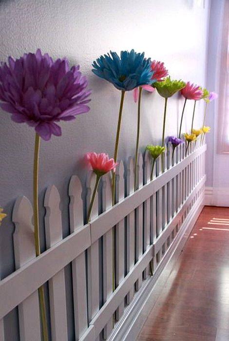 Декор детской цветами