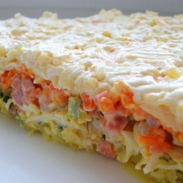 Салаты слоеные рецепты с простые и вкусные и недорогие