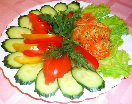 фото фигурная нарезка овощей и фруктов