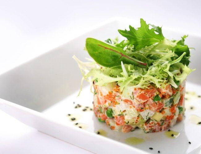Салат оливье с рыбой рецепт с фото