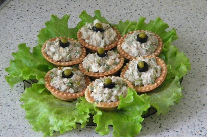 Рецепт салата для тарталетки