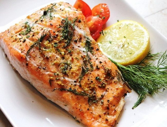 Рецепт стейк лосося запеченного в фольге