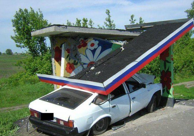 ДТП в Киеве: Водитель Hyundai не справился с управлением и вылетел на остановку общественного транспорта - Цензор.НЕТ 6908