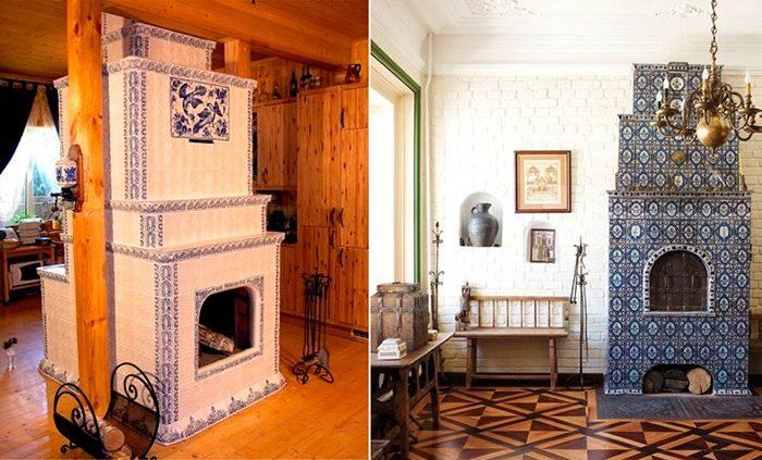 Как украсить печь в доме своими руками в деревянном доме 52
