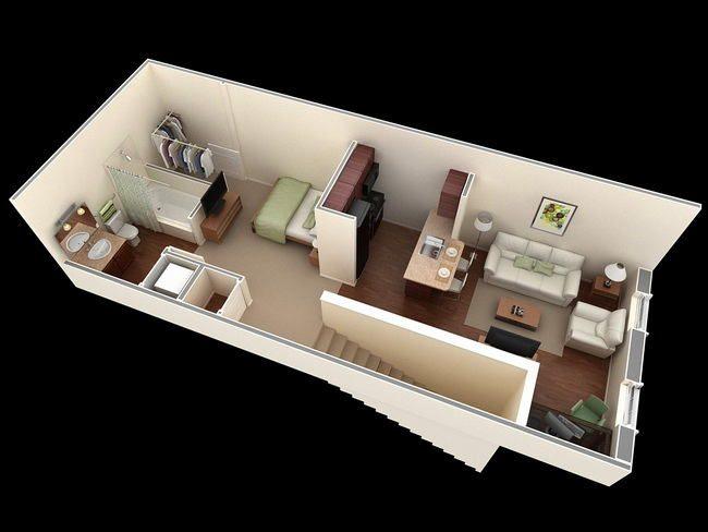 Узкая квартира планировка