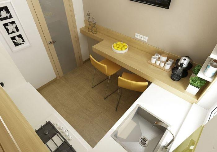 Дизайн кухни шести квадратных метра