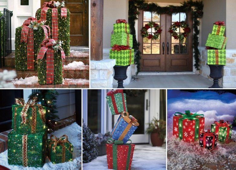 15 лучших идей украшения двор дома к Новому году!