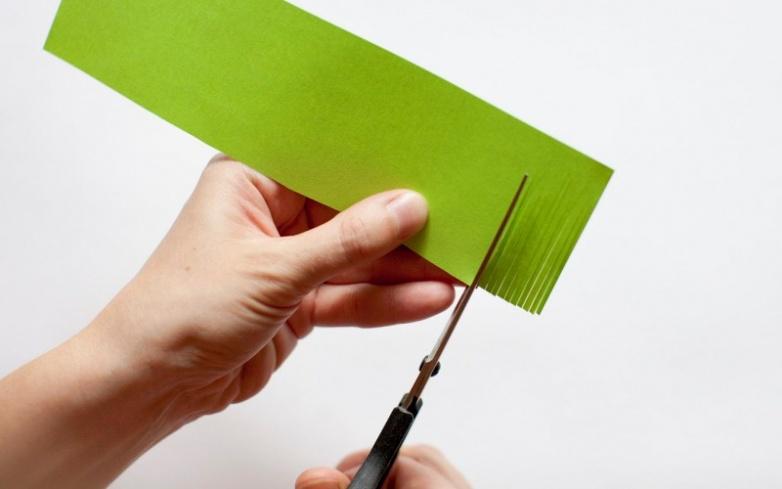 Как из бумаги сделать траву для поделки 83