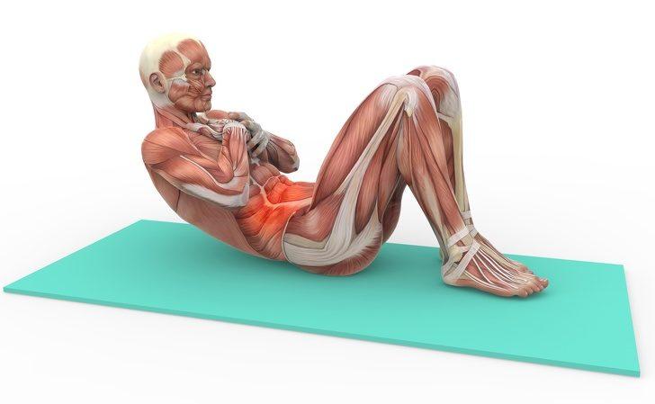 то, упражнения на пресс от боли в спине