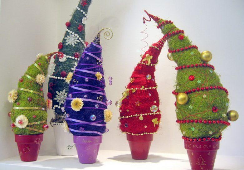 Новогодние елочки своим руками