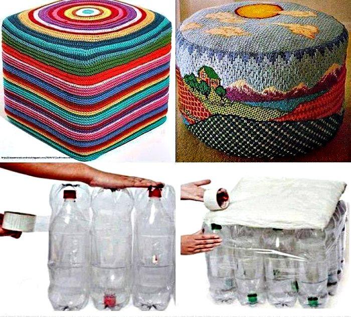 Из пластиковых пуфик бутылок своими руками