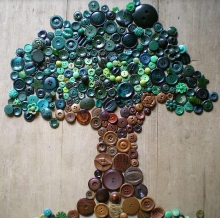 Потрясающие картины из пуговиц / Как сэкономить