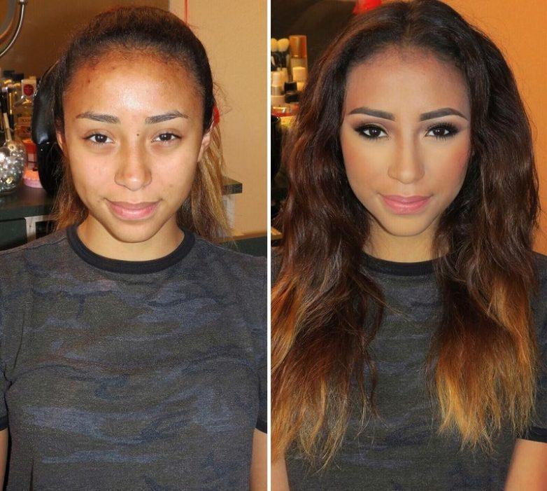 23c7c88cd4 Вот как макияж может изменить женщину до неузнаваемости