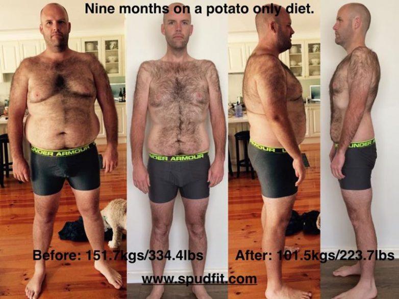 Вот так можно похудеть, питаясь только картошкой