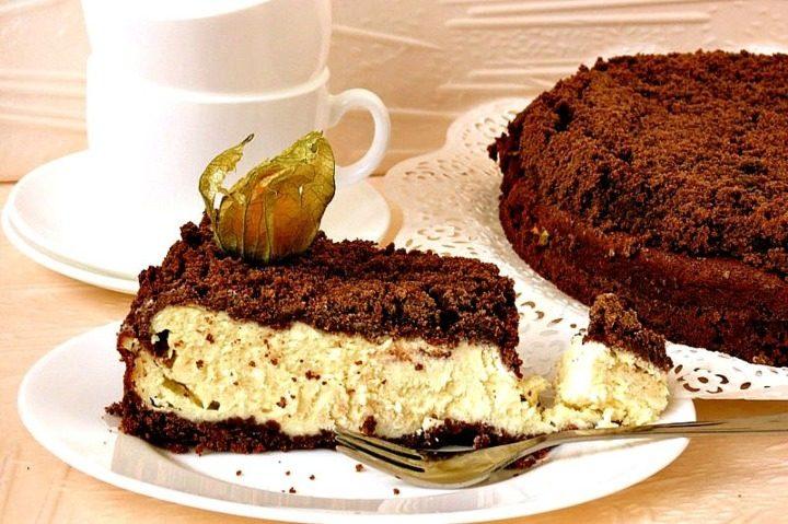 Пирог с какао и творогом рецепт