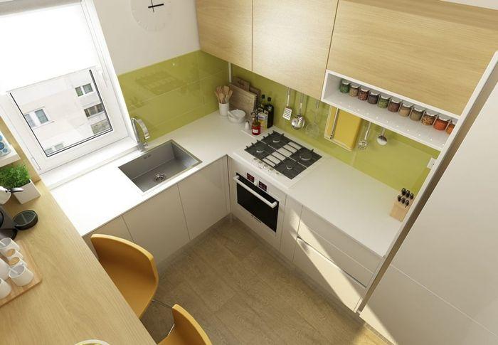 Дизайн кухни 6 квадратных метров с