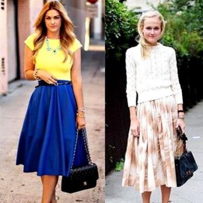 Как правильно носить юбки-миди девушкам низкого роста