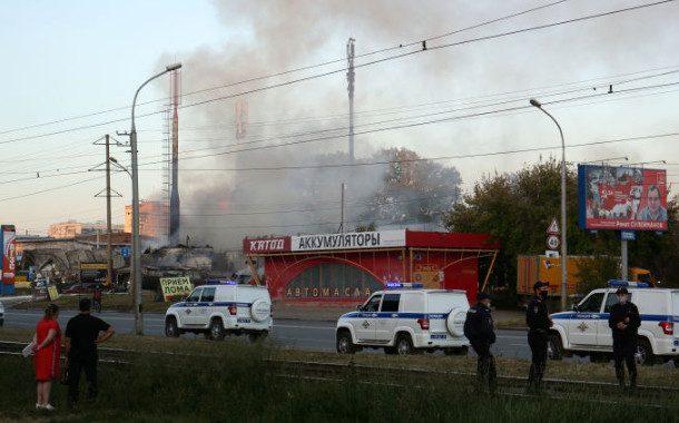 При пожаре на АЗС в Новосибирске пострадали 34 человека