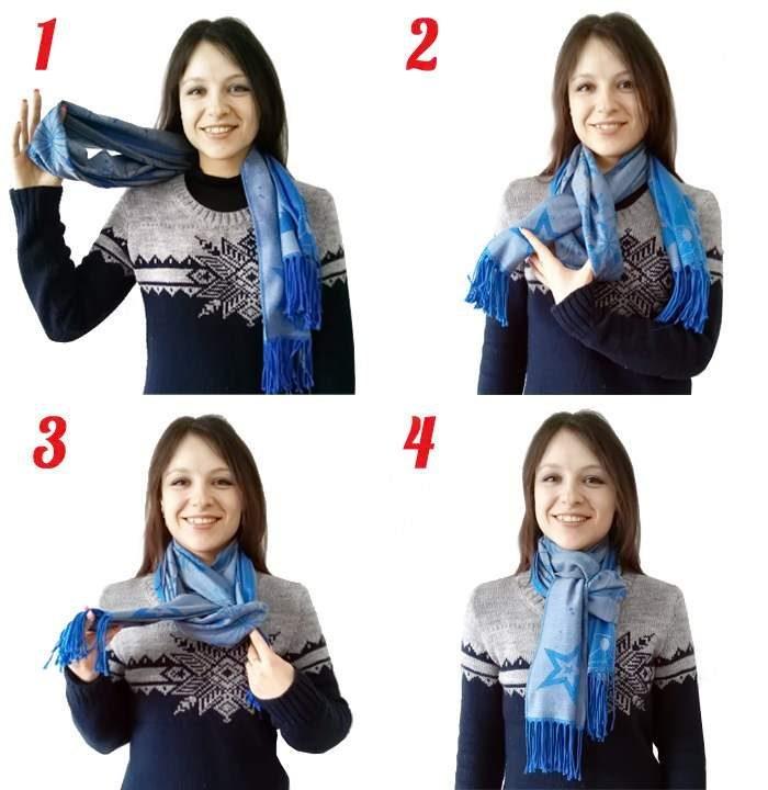 как красиво завязать шарф на пальто фото двери непременная деталь