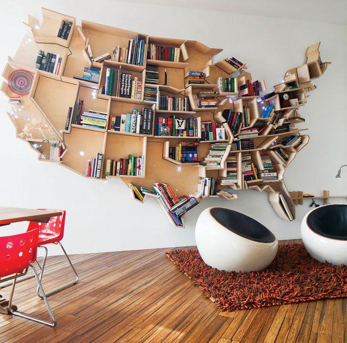 ebe103a886 Самые необыкновенные книжные полки | Роскошь и уют Фото