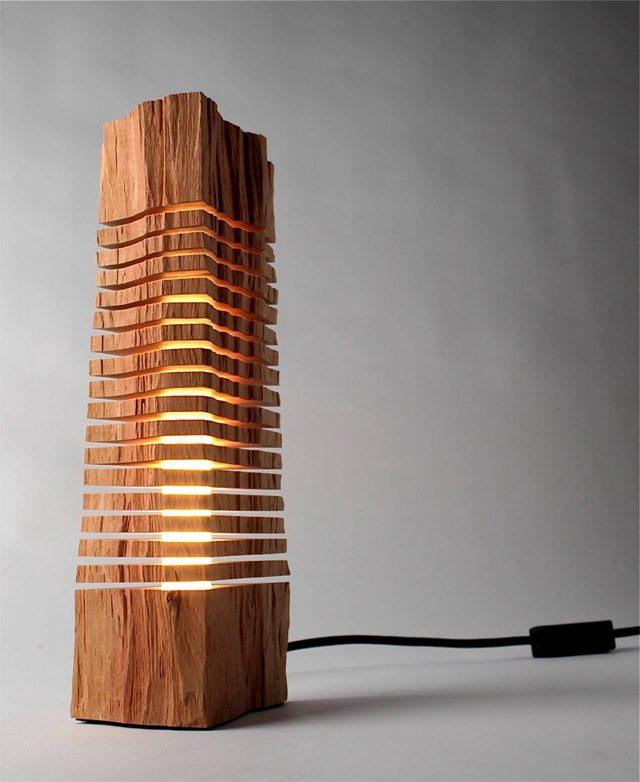 Светильники из дерева самоделки фото