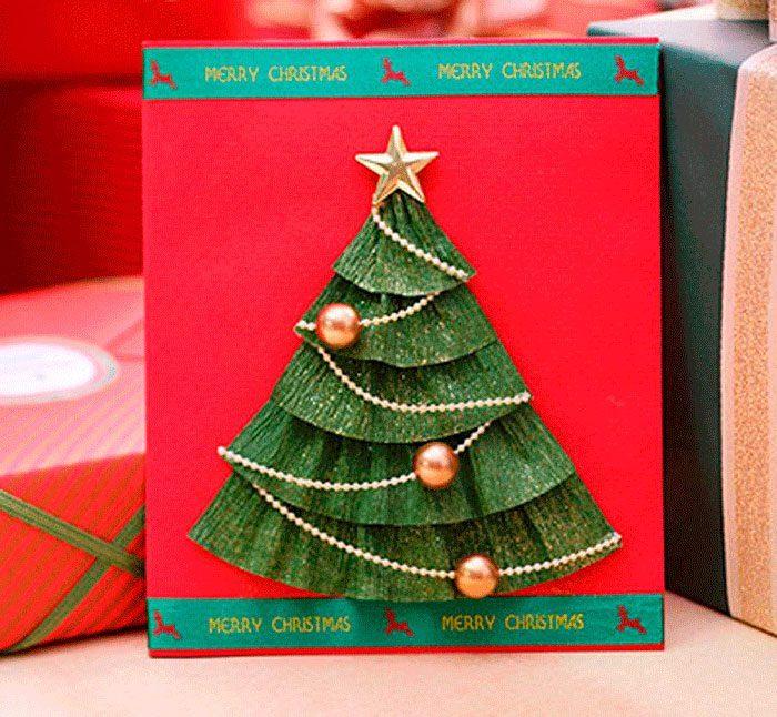 шесть сделать елку своими руками на открытку идет фотографиях
