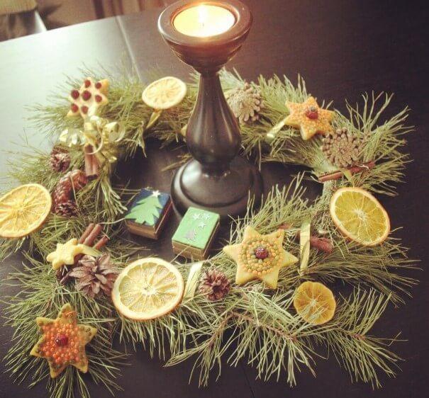 Из чего сделать круг для новогоднего венка