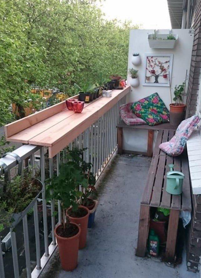 22 варианта подвесных балконных столиков