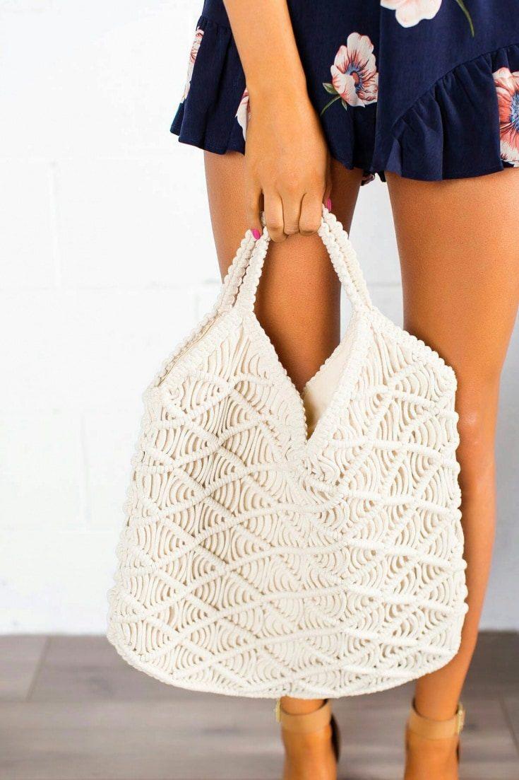 Модные сумки-макраме