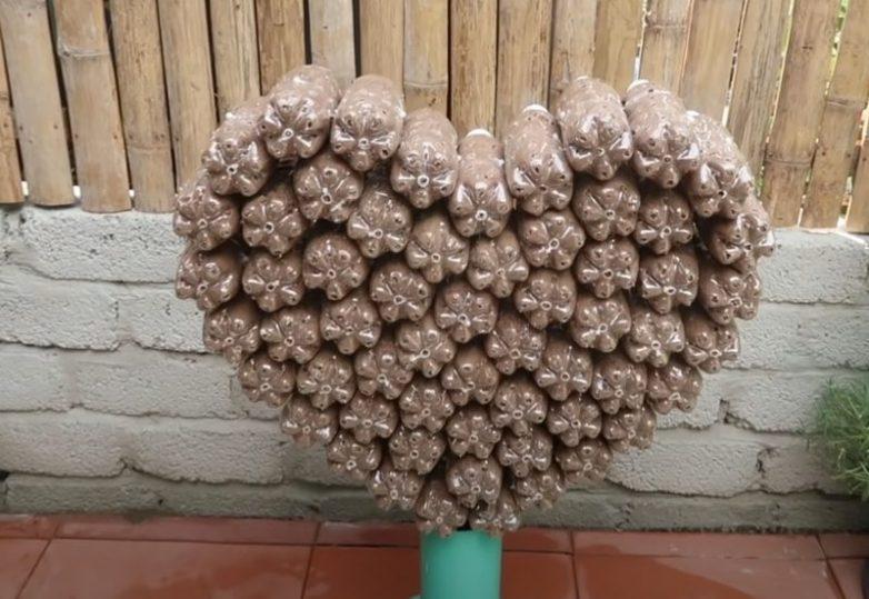 Удивительная клумба в форме сердца, которая преобразит любой сад
