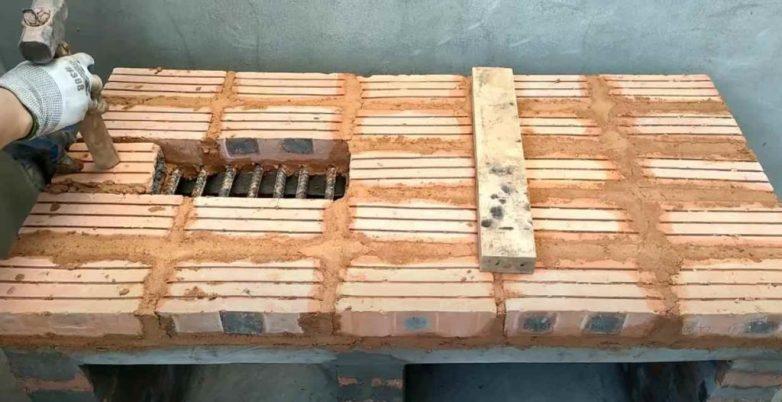 Печка-мангал из кирпича своими руками