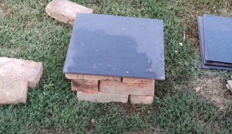 Куда применить остатки керамической плитки на дачном участке