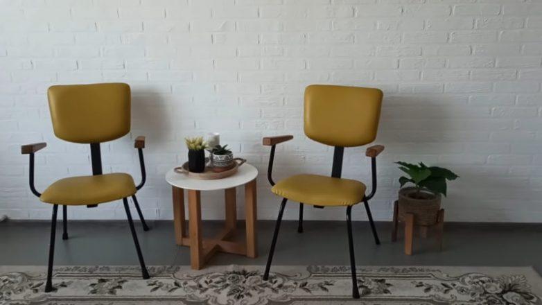 Удобные кресла из самых простых потрёпанных стульев