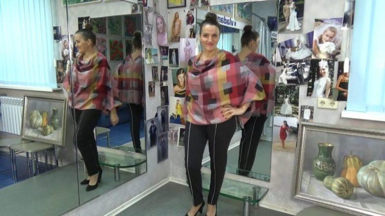 Стильный блузон из палантина