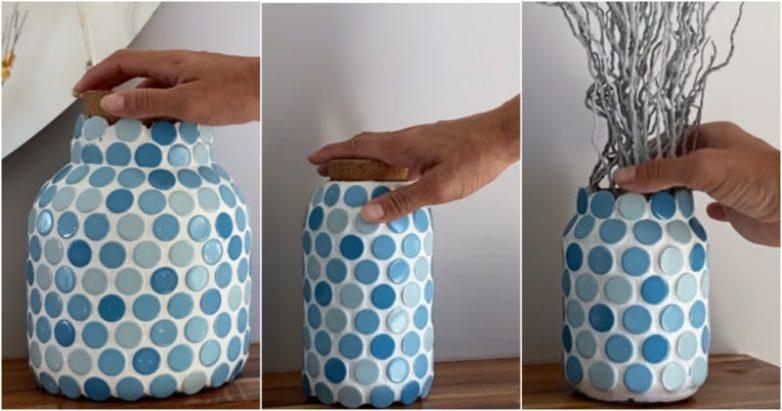 Полезная идея использования обычных стеклянных банок в интерьере
