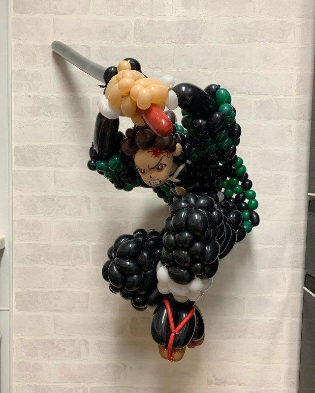 Забавные скульптуры из скрученных воздушных шаров