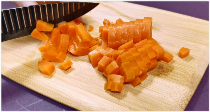 «Мраморный Оливье» - новая подача популярного салата